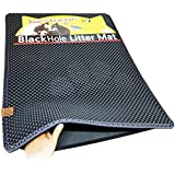 "Blackhole Cat Litter Mat - Super Size Rectangular 30"" X 23"" (Dark Gray)"