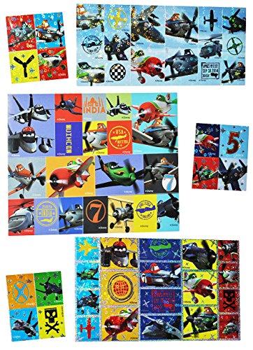 """Set 70 Stk. Sticker / Aufkleber - Disney Planes """" Flugzeug Dusty """" - selbstklebend Stickerbox - Stickerset für Kinder - z.B. für Stickeralbum / Jungen Flugzeuge - Skipper Riley Dottie Bulldog"""