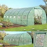Probache - Grande serre de jardin tunnel 7 arceaux Pro galvanise 18m² 6x3x2m...