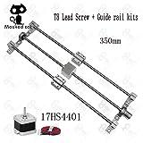 3D Printer - 3D pinter Guide Rail Sets T8 Lead Screw Length 350mm + Polished Rod 8350mm+KP08+SK8+ SC8UU + nut housing +Coupling + 4401 Motor