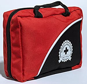 Ultra-Light & Small 100 Piece First Aid Kit w/ Unique Items, Durable Nylon Case - Ideal for the Car, Kitchen, School, Camping, Hiking, Travel, Office, Sports, Hunting and Home, Emergency & Survival