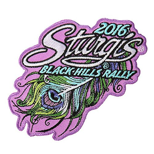 Hot Leather Women's Official 2016 Sturgis Motorcycle Rally Peacock Feather Patch