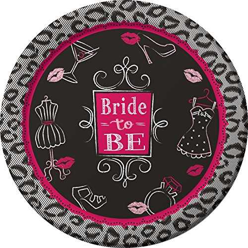 Creative Converting 8 Count Bridal Bash Sturdy Style Paper Dinner Plates, 8.75