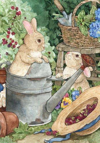 Toland Home Garden Bunny Mischief House Flag 100034