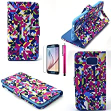 buy S5 Case, Jcmax Cute Colorful Superiorultra Slim Pu Synthetic Leather Wallet Case With Cards Slot Super Shockproof [Build In Stand] With Slender Fitted Skin For Samsung Galaxy S5-Random