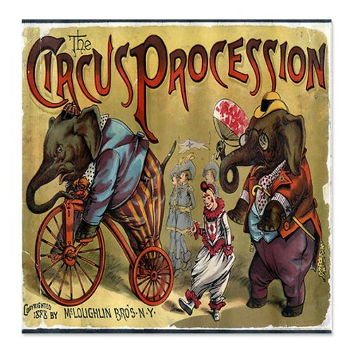 CafePress Funny Vintage Circus Poster Shower Curtain
