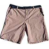 Izod Belted Plaid Shorts Nantucket Red