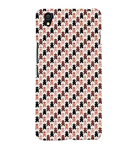 PrintVisa Corporate Print & Pattern Teddy Bear 3D Hard Polycarbonate Designer Back Case Cover for One Plus X
