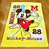 キャラクター お昼寝サイズ タオルケット80x110cm (ミッキーマウス)
