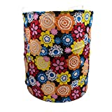 Cotton Foldable Laundry Basket Multi Color
