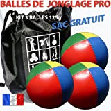 3 ball professional juggling kit 67mm 125g comes with a nylon drawstring bag for storage and travel.