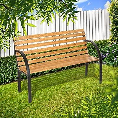 TecTake Gartenbank Eukalyptus Holz Gartenmöbel Parkbank Sitzbank wetterfest von TecTake bei Gartenmöbel von Du und Dein Garten