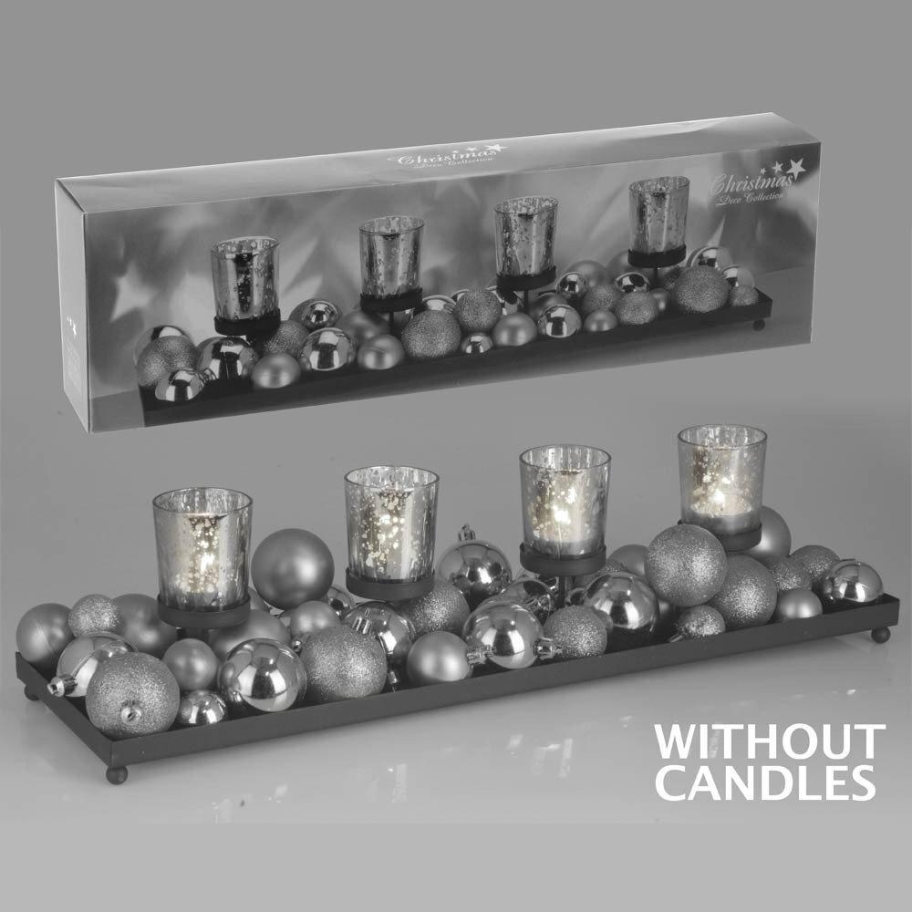 kerzenst nder kerzentablett advent set deko silber 52cm super sch n meiner meinung nach. Black Bedroom Furniture Sets. Home Design Ideas