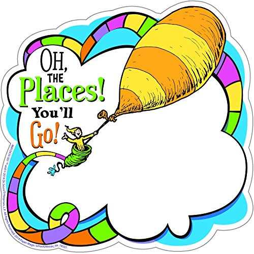 Dr. Seuss Oh The Places Paper Cut Outs