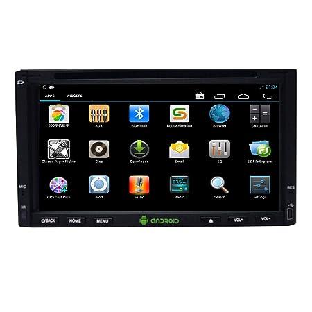 LCD de 7 pulgadas Android 4.4 Bluetooth estšŠreo De Video de la tableta del coche en el tablero de DVD GPS de navegaciš®n 3D WIFI 3G Internet contr?ler plusieurs pantalla tš¢ctil de coches Ninguno de la radio Jefe Unid