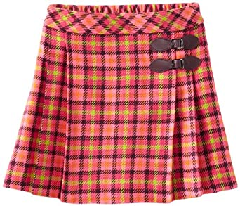 Hartstrings Big Girls' Big Multi Color Skirt, Pink Plaid, 7