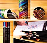 Colored Pencils Coloring Drawing Color Pencil Set 48 Colors - Best Art Colour Pens for Adults and Kids with FREE Extra Gift Book (ebook)- Artist Sketch Draw Pack with 100% Quality Guarantee (1 Set)