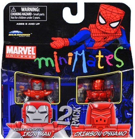 Picture of Art Asylum Marvel Minimates Series 36 Mini Figure 2Pack Silver Centurion Crimson Dynamo (B003TOY38Y) (Marvel Action Figures)