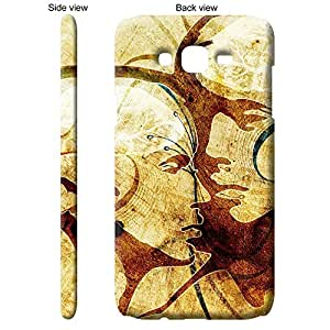 TheGiftKart Abstract Art Lovers Portrait Back Cover Case for Samsung Galaxy J7 - Brown