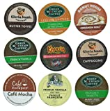 18 Pack - Limited Edition Fall Flavors Coffee Variety Pack of K-Cups for Keurig Brewers - Pumpkin Spice, Butter Toffee, Cinnamon, French Vanilla, Mocha, Cappuccino and Hazelnut flavored- from Timothys, Gloria Jeans, Donut House Collection, Van Houtte