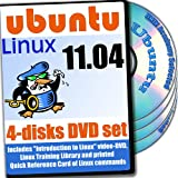 Ubuntu 11.04, 4-Disks DVD Installation and Reference Set, Ed.2011