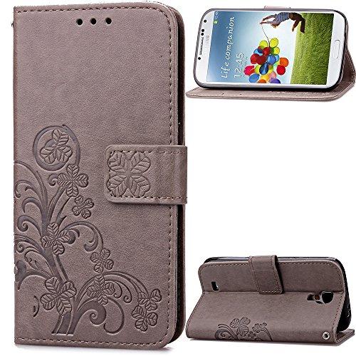 Samsung-Galaxy-S4-i95002013-Hlle-Leder-PU-Leder-Hlle-Flip-Hlle-Case-Bookstyle-Cover-Schale-Stand-Stnder-Etui-Karten-Slot-Schutzhlle-Tasche-Wallet-Case-Leder-Wallet-Tasche-Brieftasche-Schutzhlle-Schmet