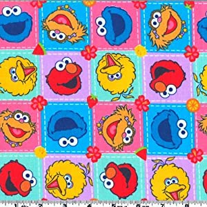 Amazon.com: 45'' Wide Sesame Street Patchwork Characters Multi Fabric