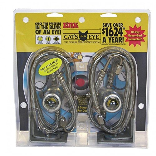Cat's Eye Tire Pressure Maintenance System Dual Trucks Trailer 110PSI 2pk SSteel (Cats Eyes Tire Pressure compare prices)