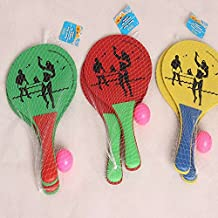 Generic Wooden Beach Ball Racket High Density Wood Plate Paddle Parent-Child Favorite Hot Toys Kids Outdoor Fun...