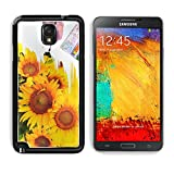 Samsung Galaxy Note 3 Aluminum Case hand paint picture with sunflowers IMAGE 27372920 by MSD Customized Premium Deluxe Pu Leather generation Accessories HD Wifi Luxury Protector