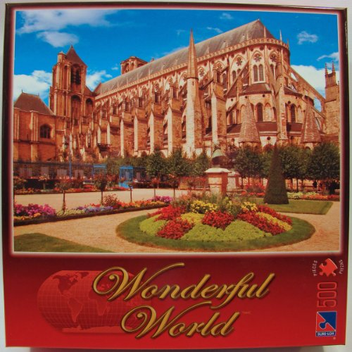 Wonderful World 500 Piece Jigsaw Puzzle: Cher Bourges Cathedral