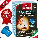 120 Nespresso Kompatible Kaffeekapseln Italcaffè Espresso Entkoffeiniert