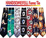 HANDSOMEFEEL Cool Handprint With American Flag Neck Suits Tie Skinny Tie