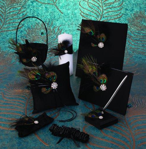 Ivy Lane Collection Coussin Motif Paon Anneau Noir