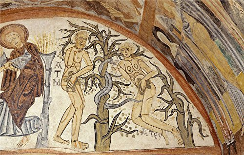 anonymous-12-century-original-sin-the-hermitage-of-the-vera-cruz-de-maderuelo-oil-painting-12-x-19-i