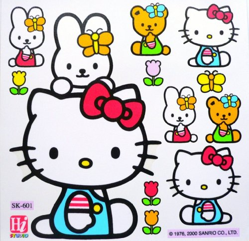 Authentic Hello Kitty Furniture Window Glass Bathroom Laptop Removable Decal Vinyl Stickers front-69567