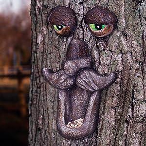 Novelty Tree Face Hanging Garden Wild Bird Feeder