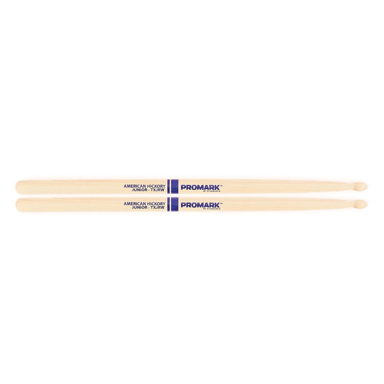 Promark TXJRW American Hickory Junior Wood Tip, Single Pair pro mark promark tx5an hickory 5a nylon tip