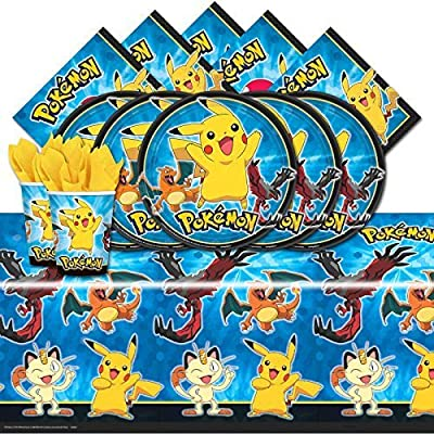 Pokemon Pikachu & Friends Birthday Party Tableware Pack for 16 by Amscan