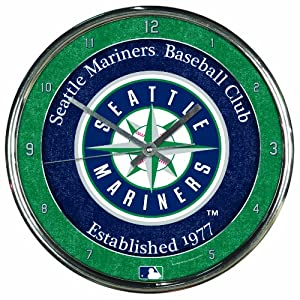 MLB Seattle Mariners Chrome Clock by WinCraft
