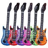 Schramm Onlinehandel 0359 - Juego de 6 guitarras inflables (55 cm, 6 colores diferentes)
