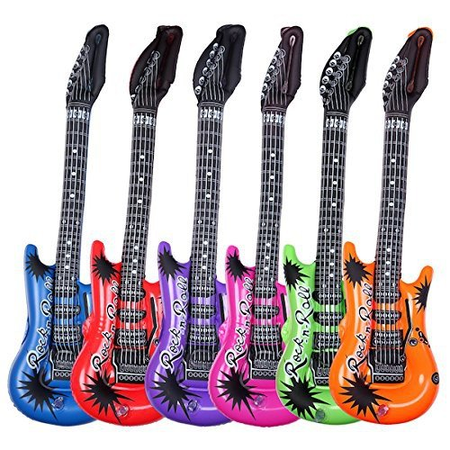 S o pack/luftgitarren multicolore 55 cm 6 couleurs air air guitar guitare gonflable (0359)