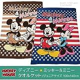 タオルケット ディズニー ミッキーマウス ハーフサイズ(ジュニアサイズ) 100×140cm ミニーマウス DJ16-41-1014 (ブルー)