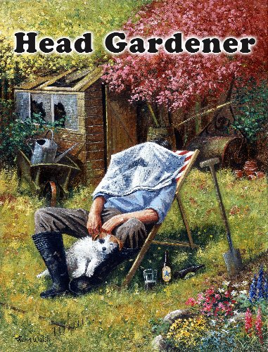 Original Metal Sign Co. Head Gardener, Kevin Walsh, Cartello in metallo