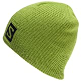 Salomon Mens Logo Beanie, Organic Green Big Blue by Salomon