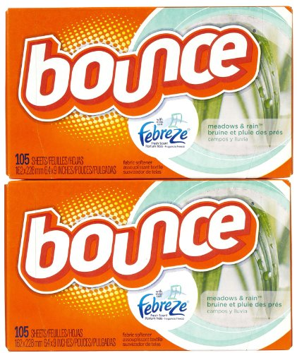 Bounce With Fresh Scent Dryer Sheets, Meadows & Rain, 105 ct-2 pk (Bounce Meadows And Rain compare prices)