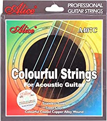 Alice Colourful Strings Pack for Acoustic Guitar