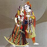 "Dolls Of India ""Radha Krishna - The Eternal Lovers"" Reprint On Card Paper - Unframed (15.88 X 15.88 Centimeters..."