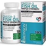 Bronson Omega 3 Fish Oil Triple Strength 2720 mg, Non-GMO, Gluten Free, Soy Free, Heavy Metal Tested, 1250 EPA 488 DHA, 180 Softgels (Tamaño: 180 Softgels)