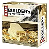 Clif Builders Bar Protein Bar, Vanilla Almond, 6 Count